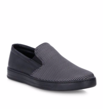 NIB Prada Black Houndstooth Nylon Leather Slip-On Sneaker Loafer Shoes 9 - $325.00