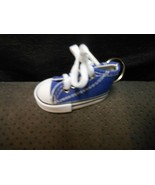 """High Top Cloth Blue Sneaker Keychain 3"""" NEW NO TAGS - $6.19"""