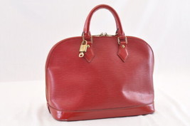 Louis Vuitton Epi Alma Red Hand Bag M52147 Lv Auth 7142 - $480.00