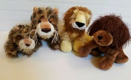 Ganz Webkinz - Set of 4 Plush Toys - Lion Leopard Brown Dog - No Codes - $4.37
