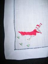 Vintage Handkerchief Hankie Embroidered Salsa Sexy Dancer in Red Dress 1... - $9.40