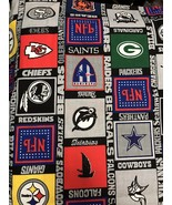 """Fabric Piece Multiple Football Teams NFL Craft Hobby Sewing 116"""" X 58"""" - $21.90"""