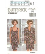 Butterick #6240 Fast & Easy Misses' Jacket & Dress Size 12-16 UNCUT FF - $8.47