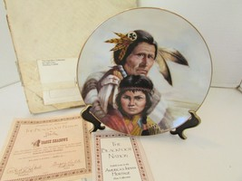 HAMILTON COLLECTOR PLATE BLACKFOOT NATION PERILLO 8TH AMERICA'S INDIAN 1... - $6.95
