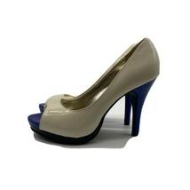 RAMPAGE Beige / Blue High Heels, Size 8.5 - $22.77