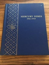 Mercury Dimes 1916-1945 Whitman Folder Book Only - $14.01