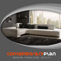 Contemporary Franco Collection White Leather Sectional Sofa w Black Pill... - $2,799.00