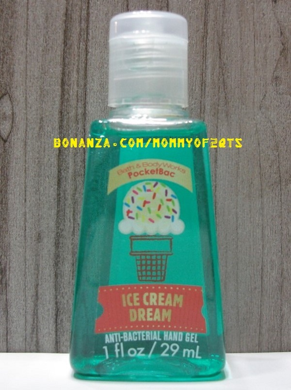 Ice Cream Dream Pocketbac Antibacterial Sanitizing Hand Gel Bath and Body  Works