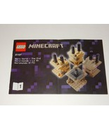 Lego Minecraft #21107 Instruction Manual Book #1 & 2 - $4.74