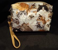 Clutch Bag/Wristlet/Makeup Bag - Cats image 2