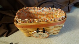 Longaberger 1999 CANDY CORN BASKET With Candy Corn Fabric Liner Protecto... - $29.95