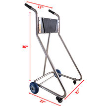 Stainless Steel Boat Outboard Motor Stand Cart Dolly With Wheel Enginee Carrier image 2