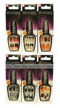 BROADWAY* 24 Press-On HALLOWEEN Nail Art Appliques ULTRA GEL Shine *YOU ... - $9.29