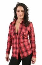 Famous Faith in L.A. Red Black Plaid Jrs Button Down Shirt image 1