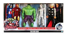 Titan Hero Series Marvel Avengers Initiative 6 Action Figure Set Hasbro ... - $122.50