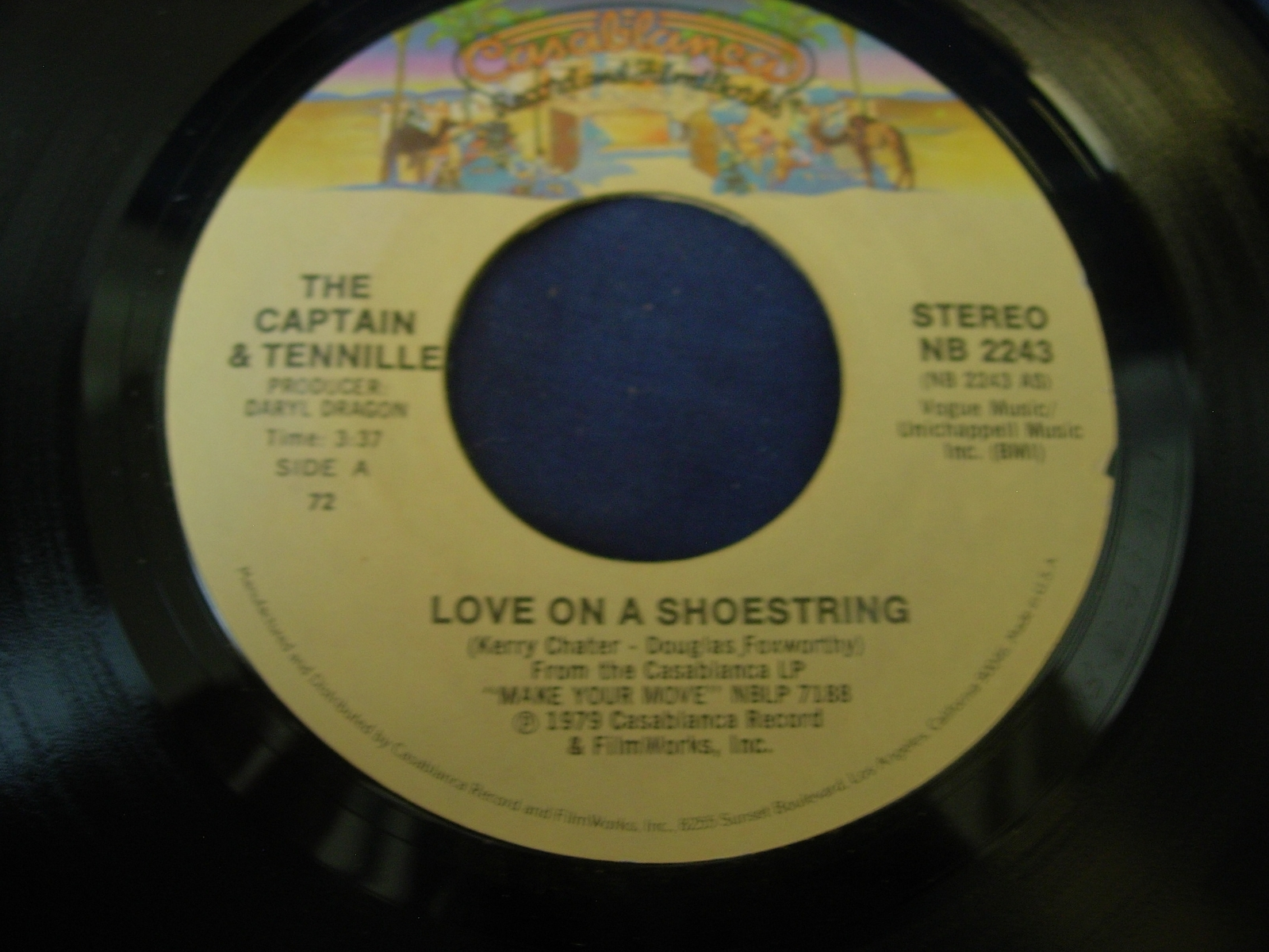 The Captain & Tennille - Love On a Shoestring / How Can You Be So Cold  NB 2243