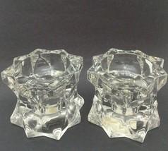 Mikasa Sparkling Star Crystal Glass Votive/Candlestick Holders - $13.10