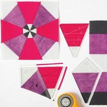 Kaleidoscope Heaven Templates Patchwork Ruler DIY Quilter Drawing Tool A... - $21.77