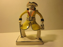 VINTAGE LYNTON POTTERY ENGLAND WHIMSICAL BOW LEGGED COLONIAL GENTLEMAN F... - $9.99