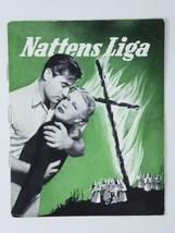 Ronald Reagan Doris Day Vintage Storm Warning 1951 Danish Movie Program - $19.75