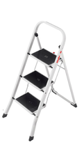Hailo Folding Stepladder Safety Step Ladder K20 3 Step ---FREE DELIVERY--- - $61.99