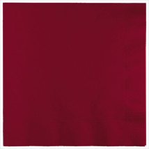 3 Ply Lunch Napkins Burgundy/Case of 500 - £31.45 GBP