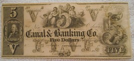 $5 Canal & Banking Co. New Orleans Louisiana Remainder Obsolete  - $44.09