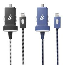 BTSaphire by Bracketron PwrMate Car Charger w/ Lightning Connector Cable - Black image 3