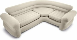Intex 68575N, Sofa Nook Inflatable 101 3/16x79 7/8x29 7/8in Colour Cream To 4 - $387.99