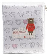 Nate and Nat Counting Sheep Pink Lamb on White Cotton Flannel Sheet Set ... - $79.00