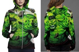 hulk disaster image Hoodie Zipper Women's - $48.99+