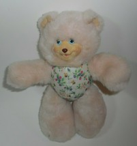 VINTAGE 1998 FISHER PRICE SARAHBERRY PINK TEDDY BEAR STUFFED ANIMAL PLUS... - $18.70