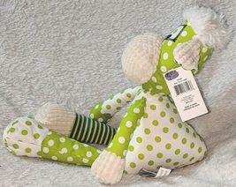 GANZ HE9981 Polyester Fiber 15 Inch Quil Tees Green Lamb For Ages Three And Up image 4