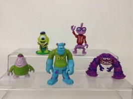 LOT (5) Disney Monsters University Figures Sulley Mike Randal Art Squish... - $14.80