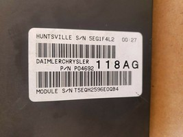 07 Dodge Nitro TIPM Totally integrated power module Fuse Relay Box 04692118AG image 2