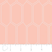 Emelia Double Gauze Bee Nest Peach Swaddling 100% Cotton fabric by the yard - $9.79
