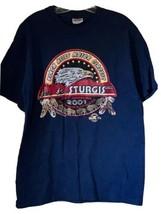 Sturgis TShirt Black Hills Rally Biker 61th Anniversary 2001 Size Large ... - $18.16