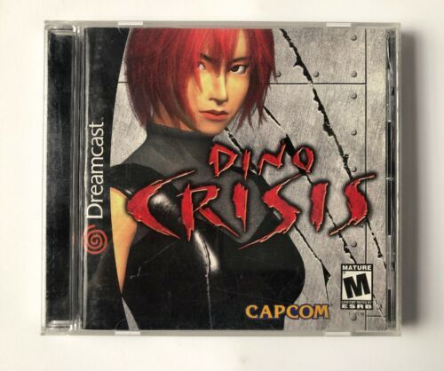 ☆ Dino Crisis (Sega Dreamcast 2000) AUTHENTIC Complete in Case Game Tested Works