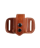New Barsony Saddle Tan Leather Revolver Speed Loader Pouch .22 .38 .357 - $27.99