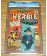 Herbie #17 CGC 8.0 ogden whitney - fat fury - native american rain dance... - $186.99