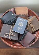 Handcrafted Leather Passport Cover, Passport Holder 5 colors - $39.99