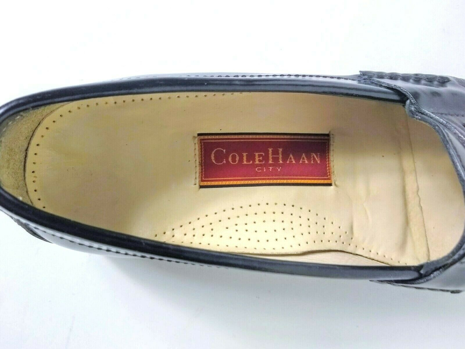 Cole Haan Mens Black Moc Toe Pinch Penny Leather Loafer Slip-on Shoes Size 9.5 image 7