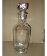 Liquor Decanter Square Cut Lead Crystal Heavy Glass Bourbon Whiskey Rye ... - $40.00