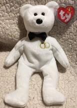 "Ty B EAN Ie Babies 2001 ""Mr"" Wedding Bear w/Swing Tag Protector Free Shipping - $14.99"