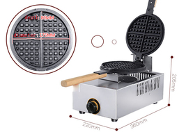 Non-Stick Multifunctional Gas Waffle Maker Single Head With Timer - €169,17 EUR