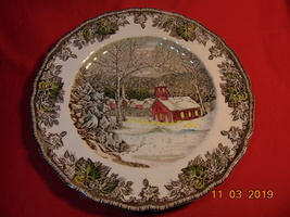 "9 7/8"", Dinner Plate, from Johnson Bros., in the Friendly Village Pattern. - $5.99"