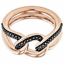 Authentic Swarovski Lane Rose Gold Links Ring-size 58/US 8 - $139.32