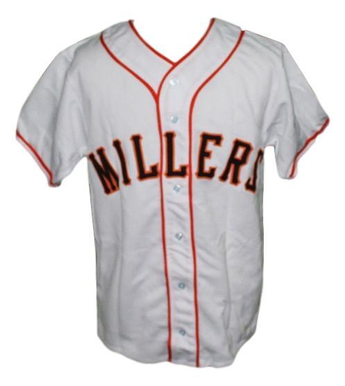 Willie mays minneapolis millers retro baseball jersey button down white   1