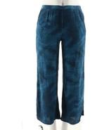 Halston Full Length Printed Wide Leg Pants Navy 6 NEW A277945 - $18.78