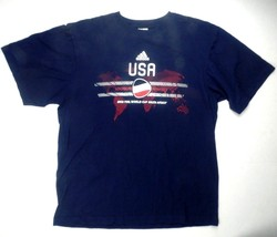 Adidas TEAM USA FIFA World Cup South Africa 2010 Soccer T-Shirt Size L L... - €13,21 EUR